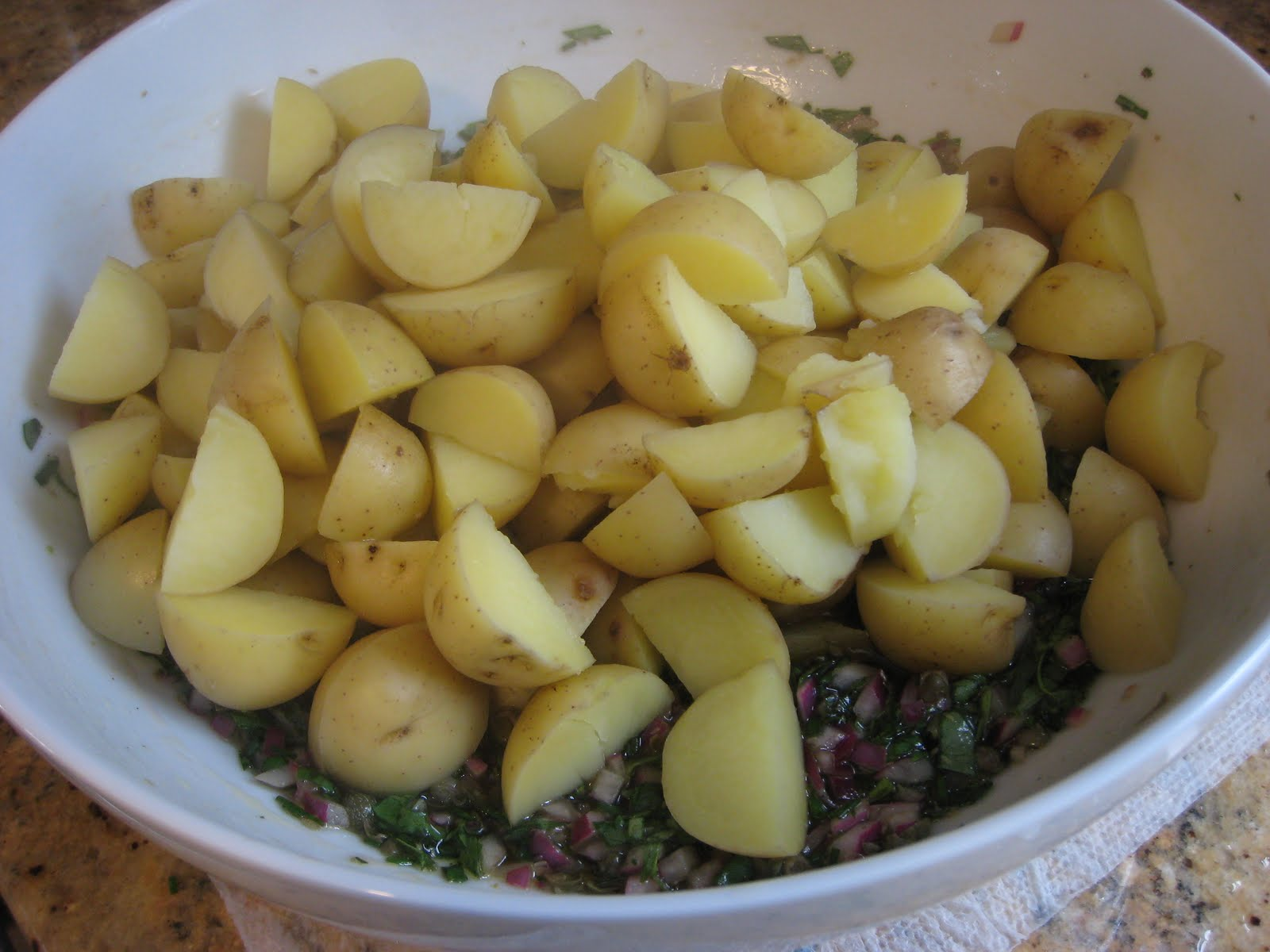 The Garlic Press: Herbed New Potato Salad