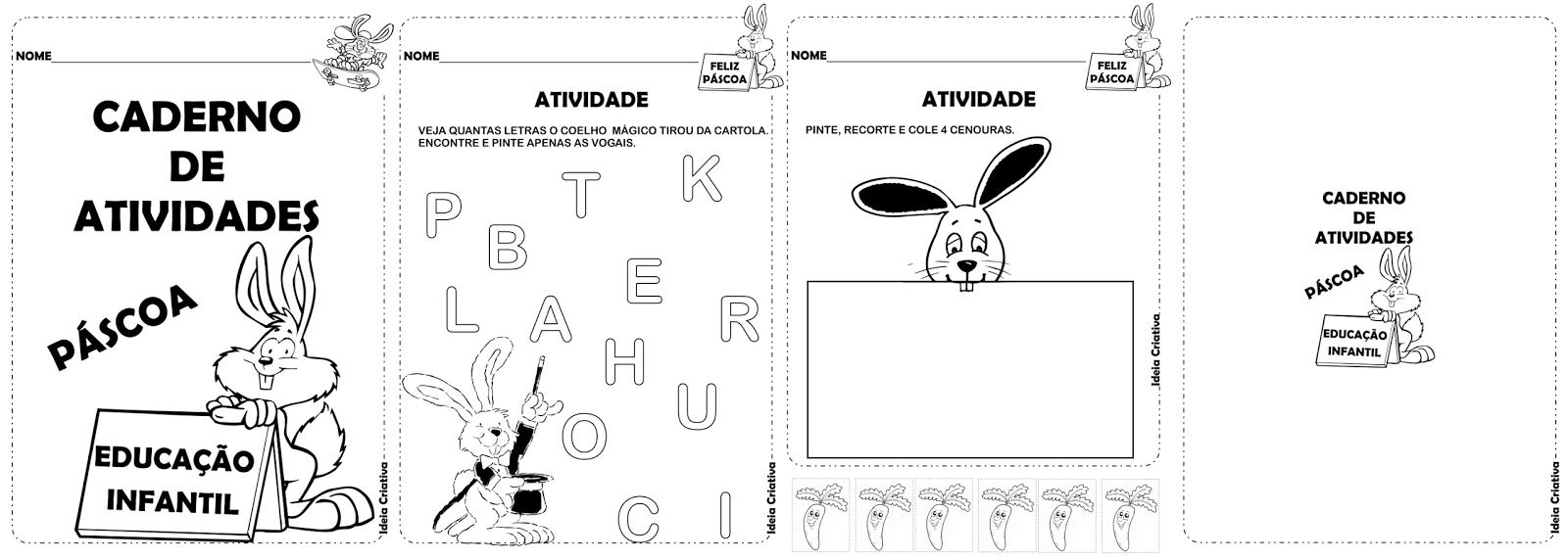 Caderno de Atividades Páscoa Educação Infantil
