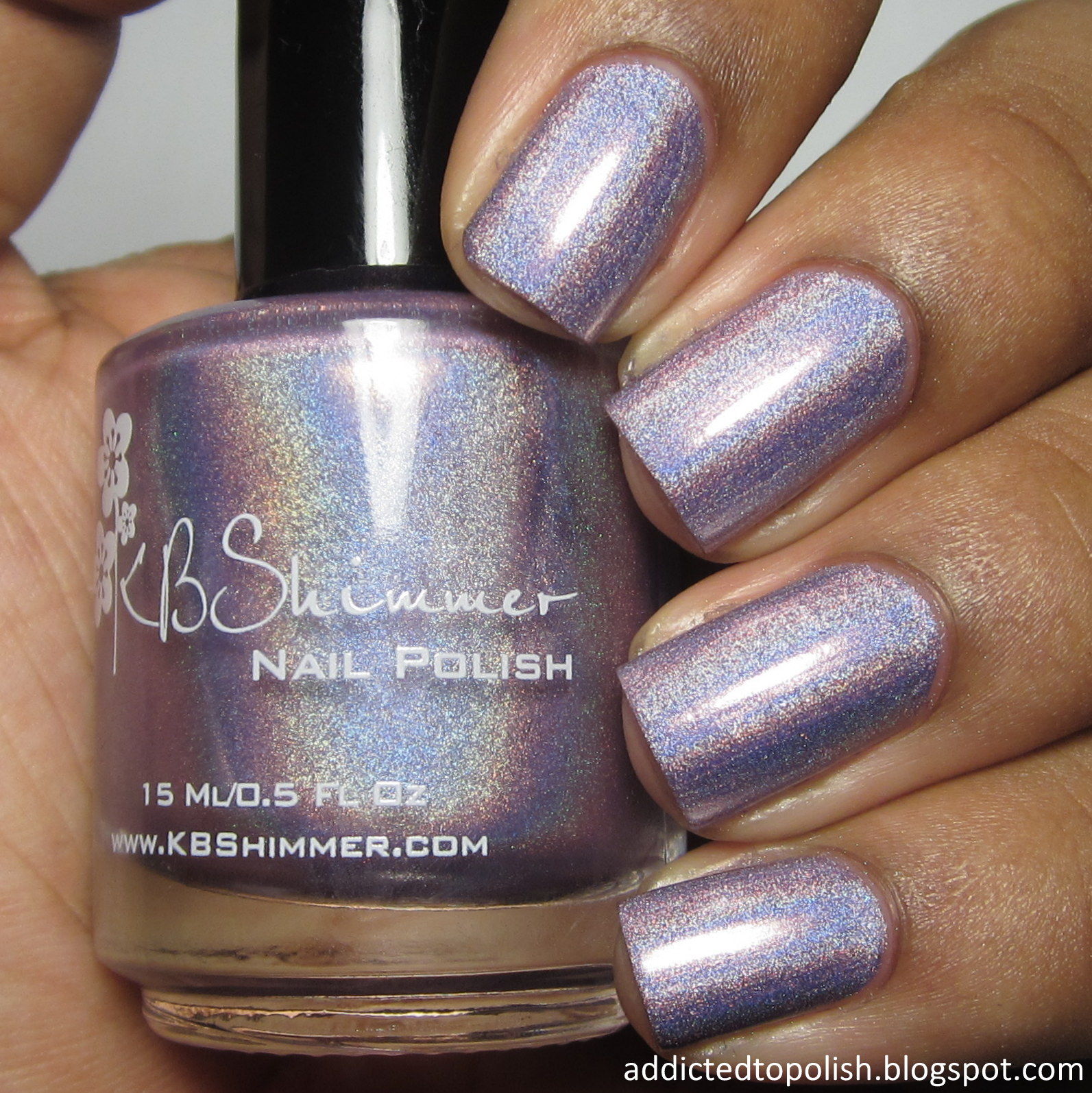 KBShimmer Thistle Be the Day Spring 2015 purple holo