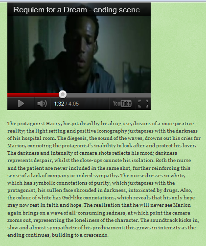 requiem for a dream a case study Elvis mitchell reviews requiem for a dream, director darren  for them, it's all  sensation-seeking, and to a lesser extent it's the case with the.