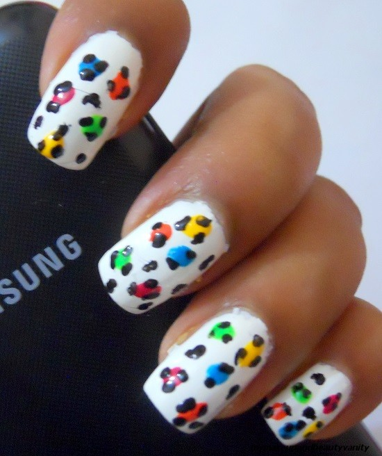 leopard print nail art+nail art