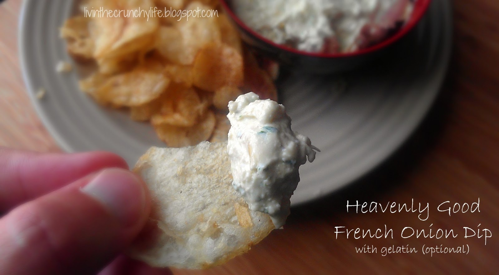 Heavenly Good French Onion Dip with (optional) gelatin