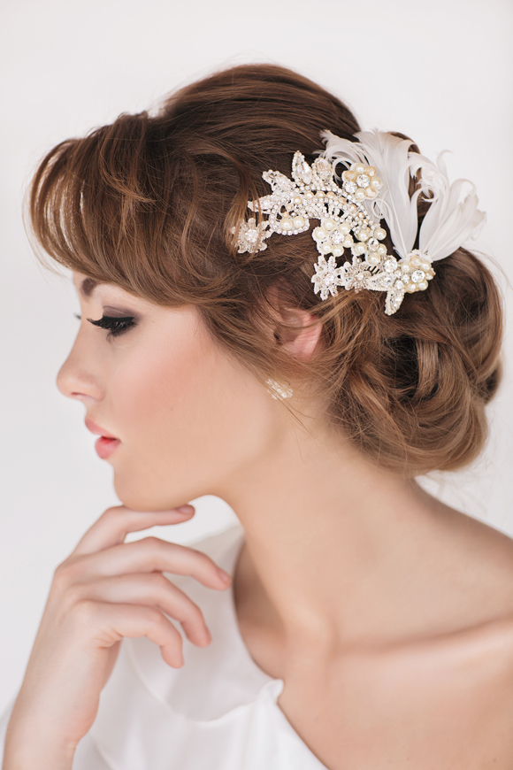 Scarlette Bridal Headpiece - www.perlejewellerymakeup.com.au