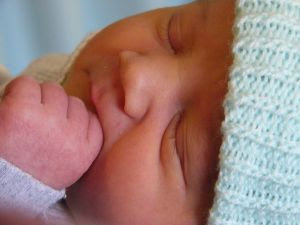 New baby 17 hours old. Stock Photo Credit: lumix2004