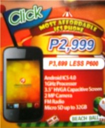 Cherry Mobile Click Affordable ICS