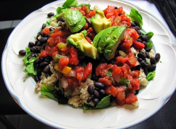 ... Pharmacist's Blog: Fresh Mex Black Bean and Brown Rice Un-Burritos