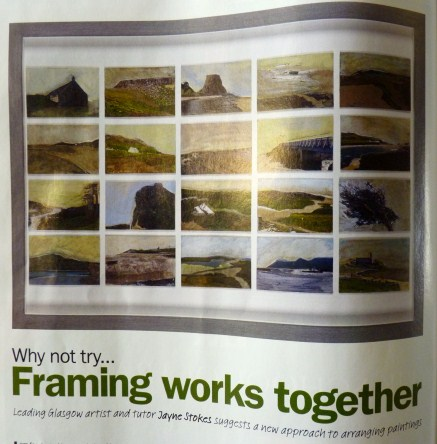 Whoopidooings: Framing Multiple Works - Jayne Stokes article in Artists & Illustrators