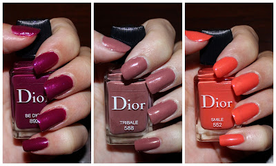 Dior Vernis in 552 Smile, 588 Tribale & 892 Be Dior