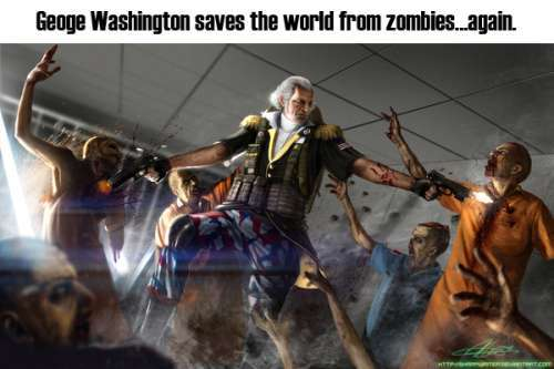 George Washington Saves The World From Zombies Again