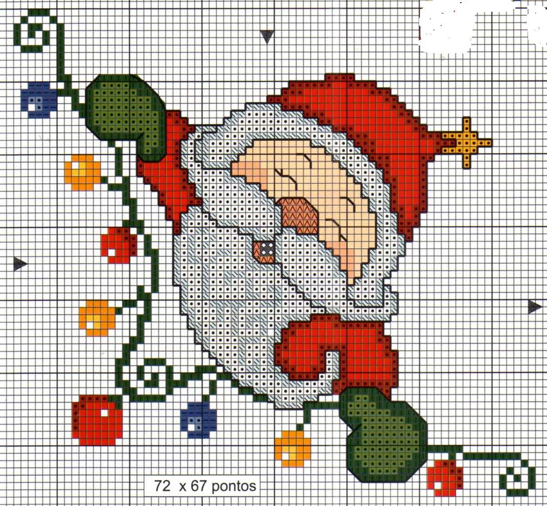 Вышивка крестом картин с изображением Деда Мороза 61