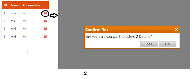 How to Put  confirmation box with yes/no button options using modal popup in c# and VB Asp.net