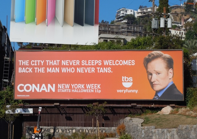 Conan New York billboard