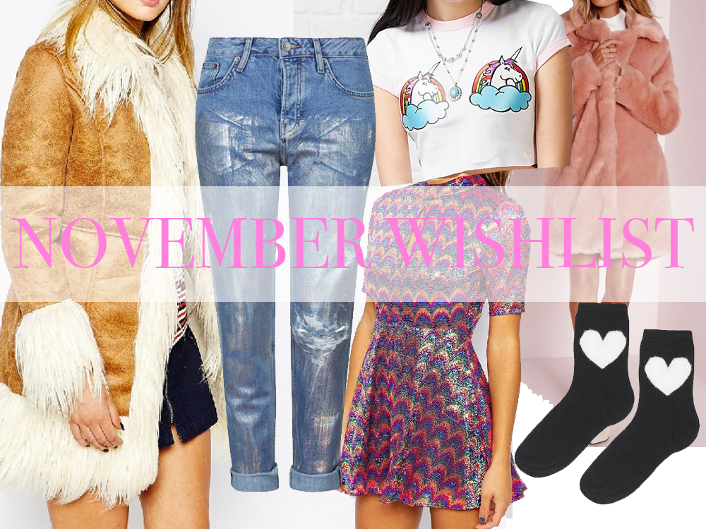 SPARKLY FLUFFY NOVEMBER WISHLIST