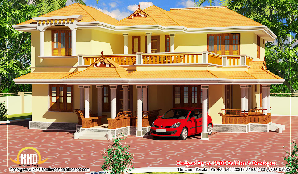Kerala Style Duplex House - 2550 Sq. Ft. (237 Sq. M.) (283 Square