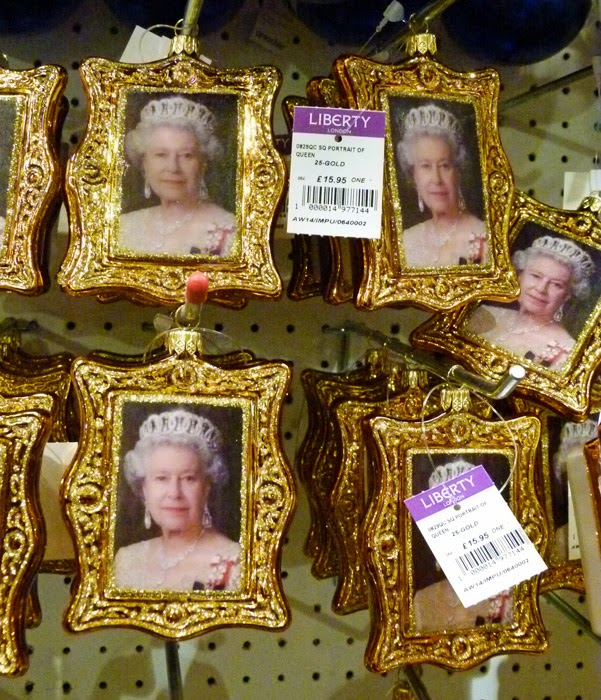 Liberty's of London, Christmas shop, HM the Queen