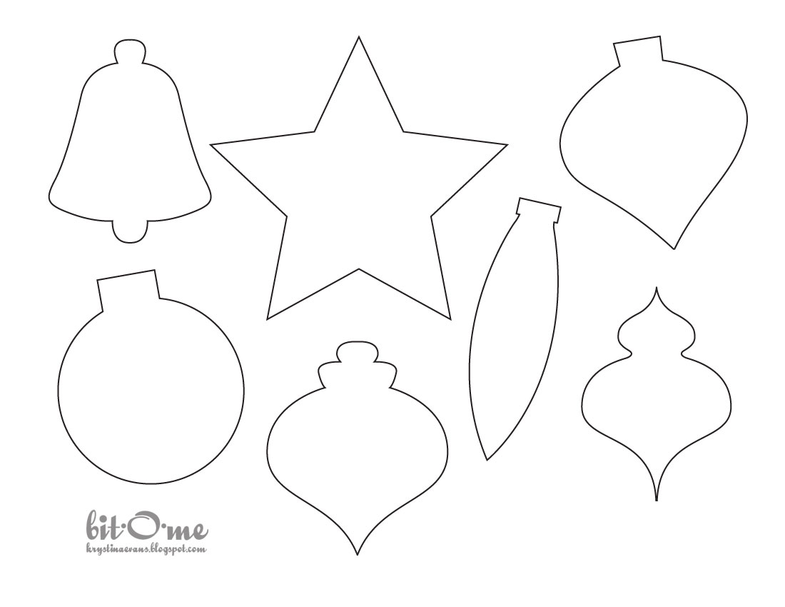 Nifty image for free printable christmas ornament patterns