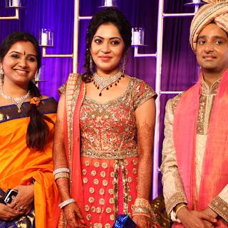Vijay TV Anchor Ramya Subramanian & Aparajith Wedding Reception Photos