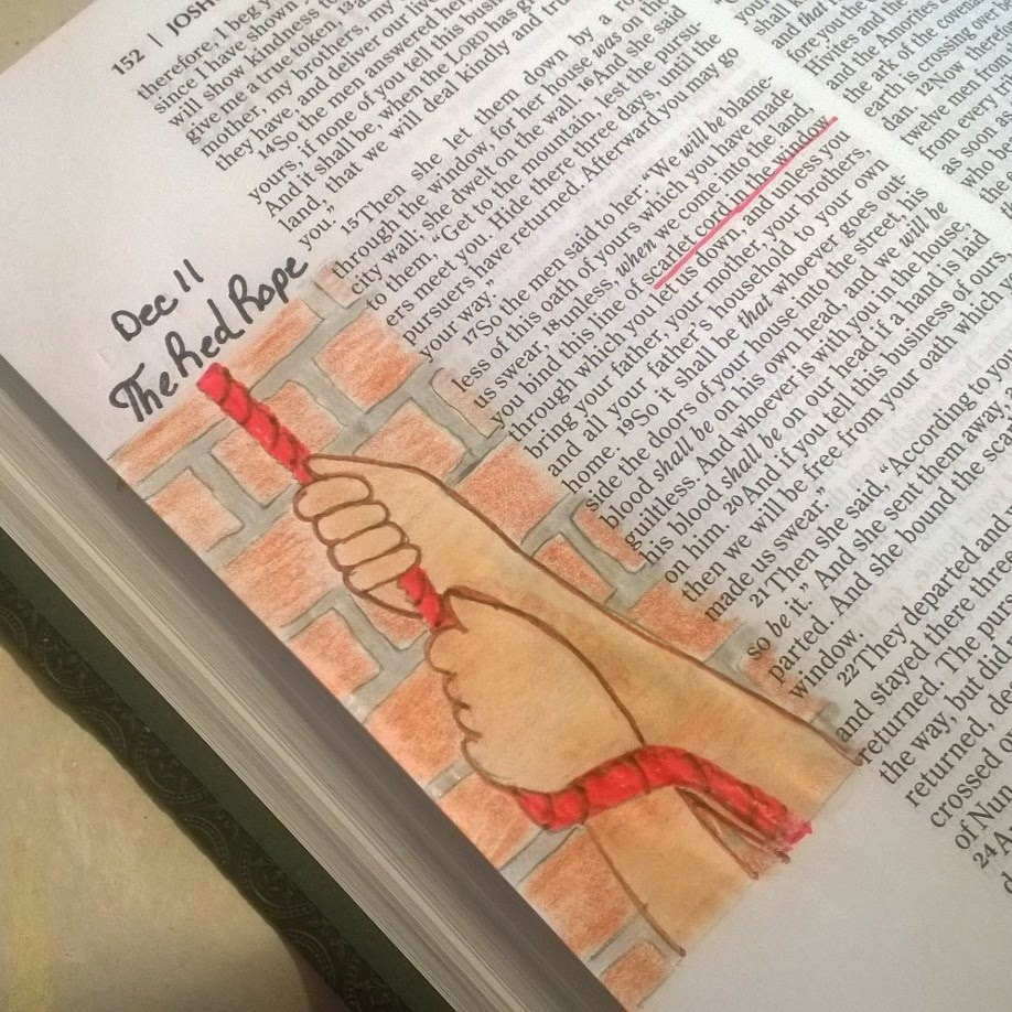 Colored pencil Bible journaling