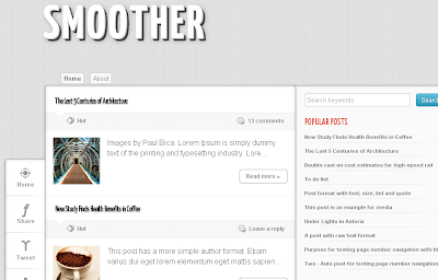Smoother Responsive Blogger Template