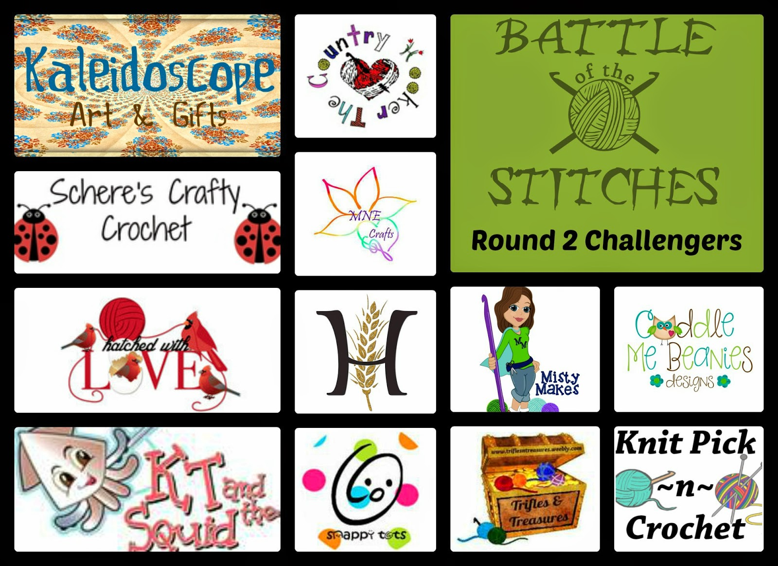 Round 2 Challengers for the Battle of the Stitches Crochet challenge