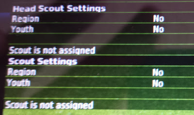 Football Manager Handheld scouting settings