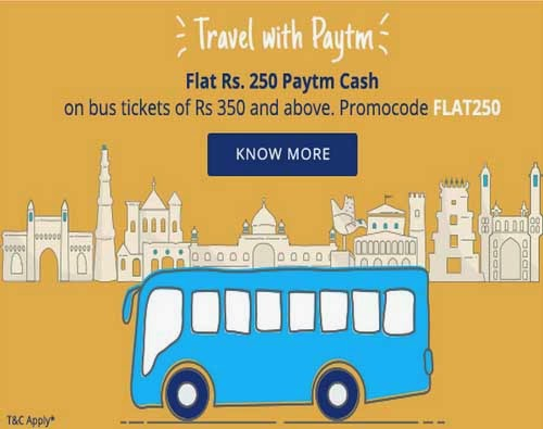 Paytm Trick - Get Rs 150 cashback on bus tickets booking of Rs 300 or more - www.codertrick.com