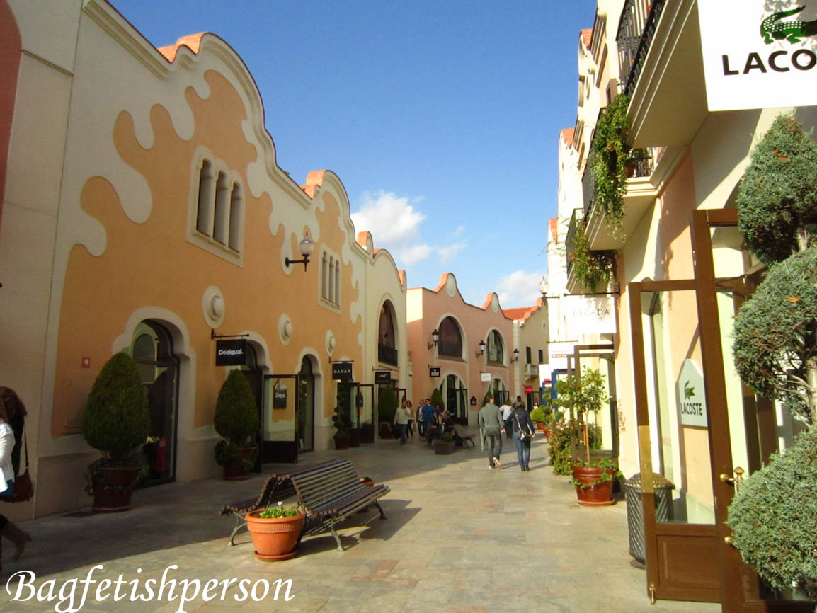 bagfetishperson la roca village outlet shopping in barcelona