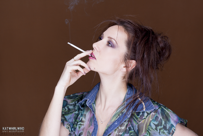 Cigarette modèle shooting