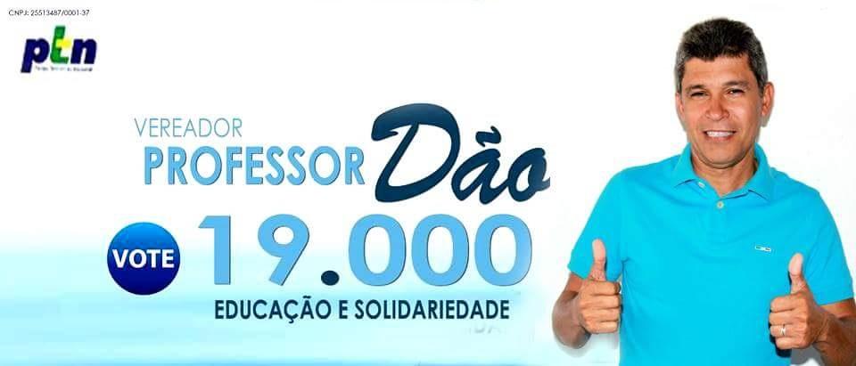 PARA VEREADOR EM CAIÇARA DO NORTE/RN VOTE NO PROFESSOR DÃO - 19.000