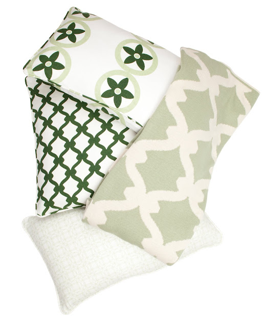 COCOCOZY Gate Throw in Sage Green with COCOCOZY pillows