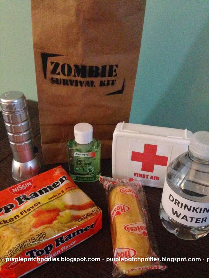 Each Survival Kit Had A Flashlight Hand Sanitizer First Aid Bottled Drinking Water Top Roman And Twinkie