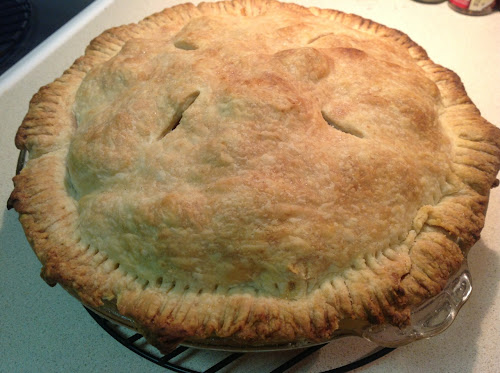 Apple pie with vodka crust