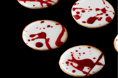 Blood Splatter Cookies@northmanspartyvamps.com