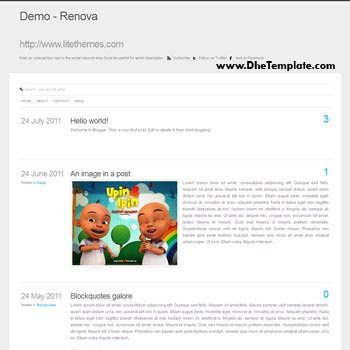 Renova blogger template convert from wordpress theme to blogger. minimalist design blogger template