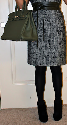 Carolina Herrera dress and Hermes Birkin