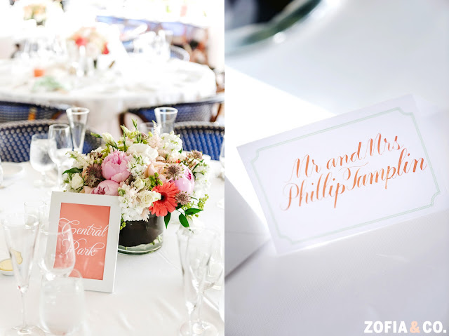 Coral and Mint Nautical Wedding Reception
