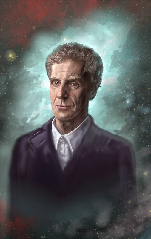 Painting of Peter Capaldi as Doctor Who