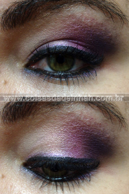 make noiva fashion moderna roxo lils prata preta