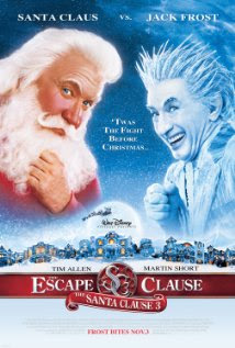 Movie poster showing Santa Claus and Jack Frost