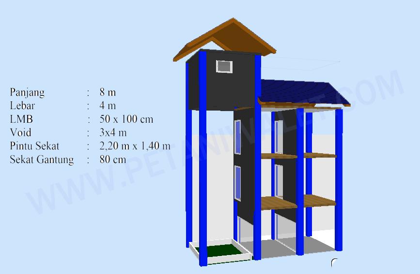 Desain Rumah Gedung Walet Ukuran X M Petani Walet