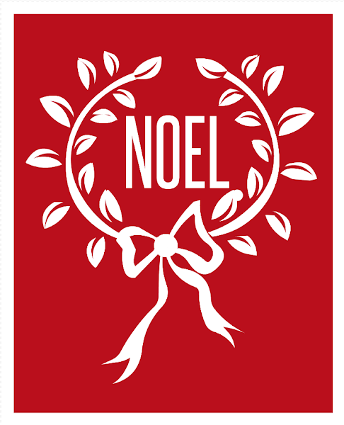 Free Noel Wreath Printable from Blissful Roots