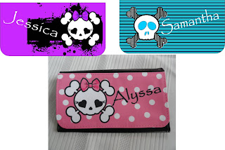 girlie skully wallet