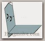 Bước 15: Gấp tạo hai nếp gấp cạnh tờ giấy