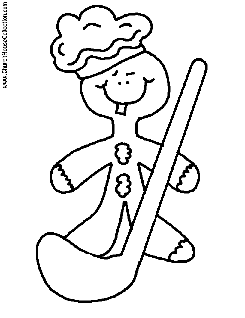 Church House Collection Blog Gingerbread Cookie Printable Gingerbread Cookie Coloring Page