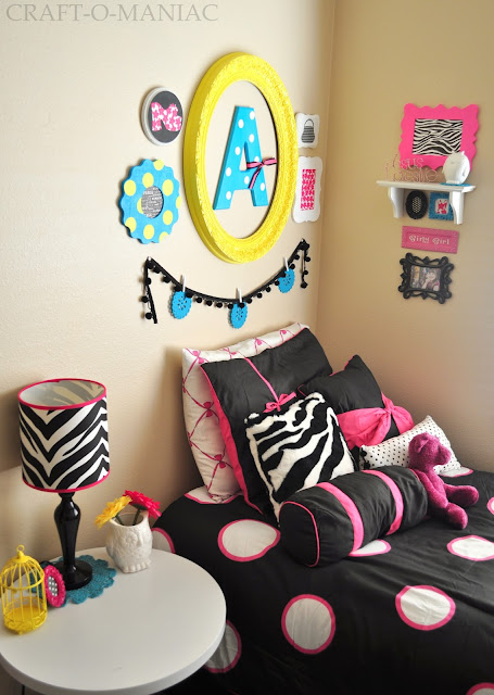 Girl's Bedroom www.craft-o-maniac.com