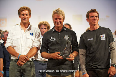 Yann Eliès, Charlie Dalin, Xavier Macaire, le podium 2015 de La Solitaire du Figaro.