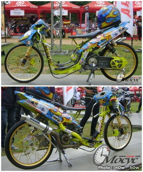 Motor Drag Yamaha Mio Amore by Drag boy Yakuza 123% UBON from Thailand title=