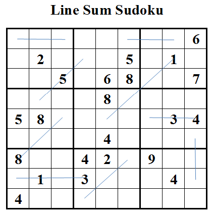 Line Sum Sudoku (Daily Sudoku League #21)