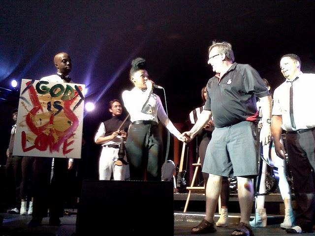 """Janelle Monae's """"God Is Love"""" painted during """"Mushroom & Roses"""" Ottawa Jazz Festival June 21 - July 1, 2012"""