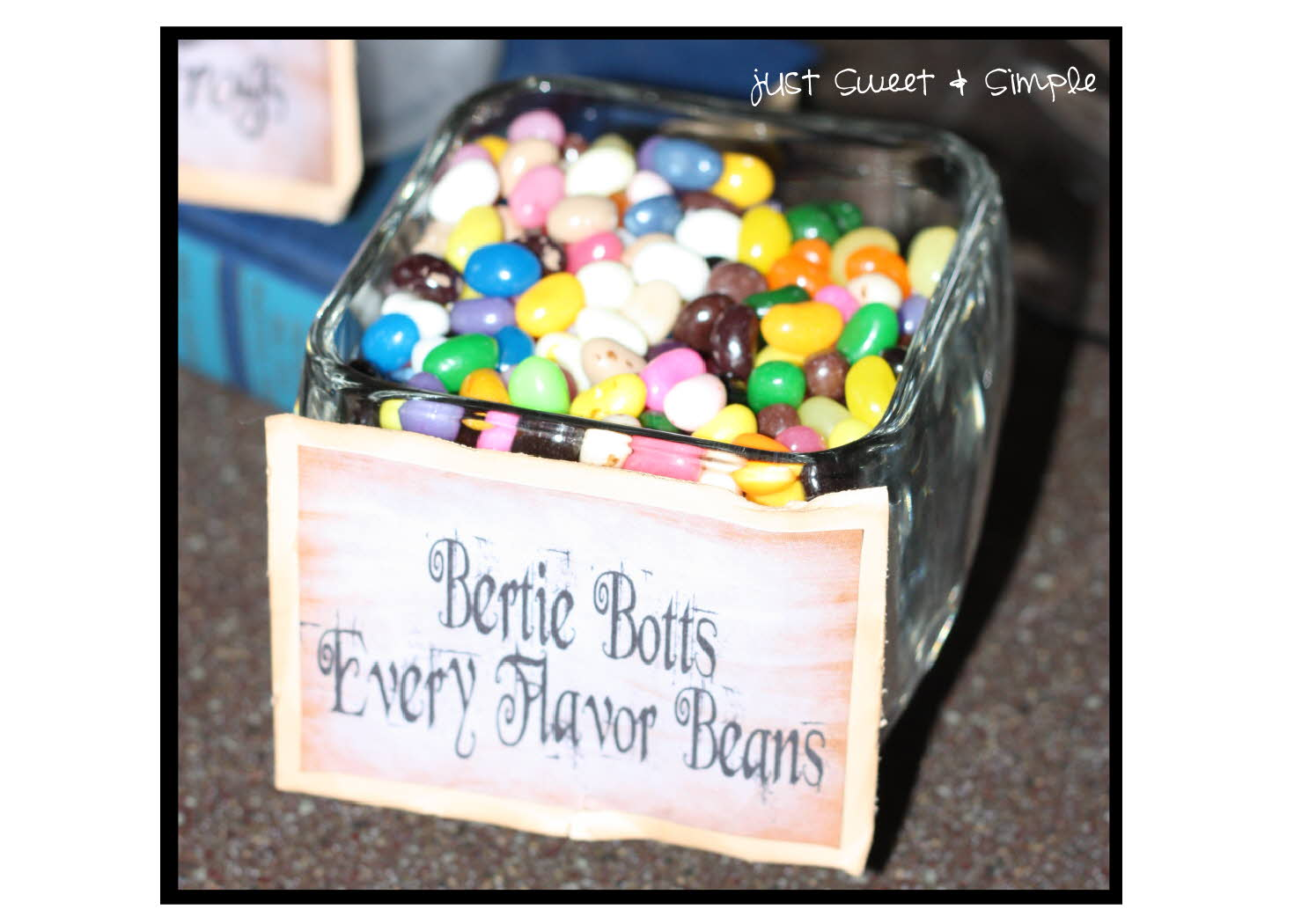 picture regarding Bertie Botts Every Flavor Beans Printable identify basically Adorable and Uncomplicated: Harry Potter Bertie Botts Each individual